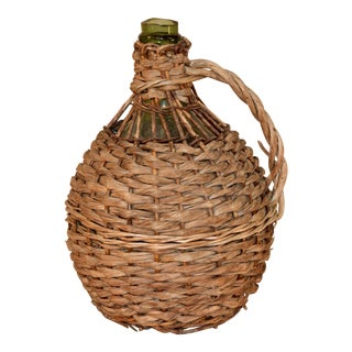 19th C Small Demijohn Jug For Sale