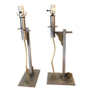 1987 Sonneman for George Kovacs Post Modern Table Lamps - a Pair For Sale