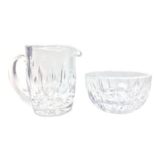 Vintage Waterford Crystal Giftware Cream and Sugar Bowl - a Pair For Sale