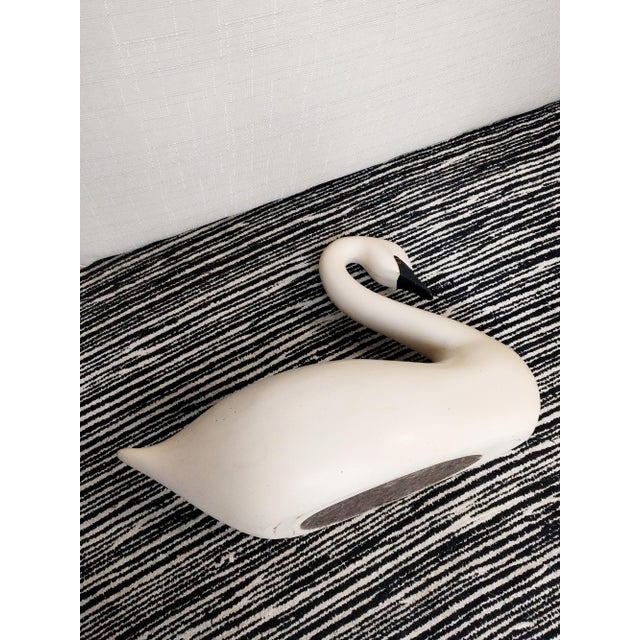 Late 20th Century Vintage Swan Decoy Figurine For Sale - Image 4 of 5