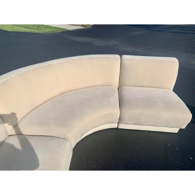 Vladimir Kagan for Weiman 3pc Scroll Back Sectional Sofa For Sale - Image 11 of 13