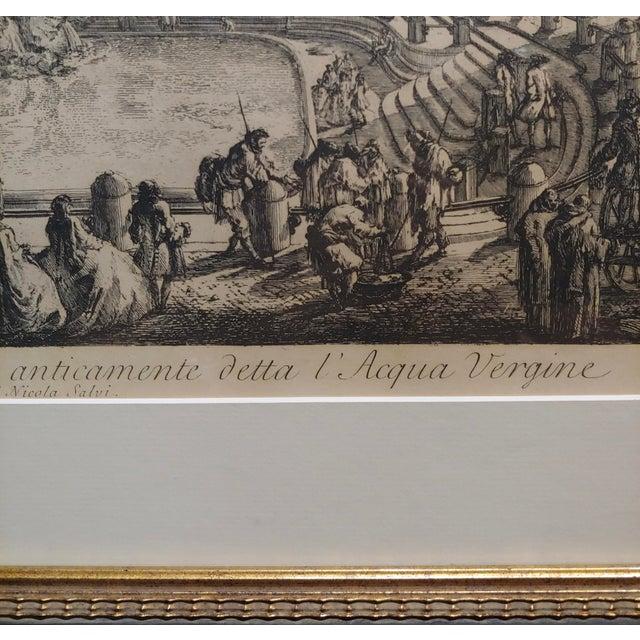 18th Century Giovanni Battista Piranesi -Veduta Della Fontana DI Trevi -18th Century Etching For Sale - Image 5 of 9