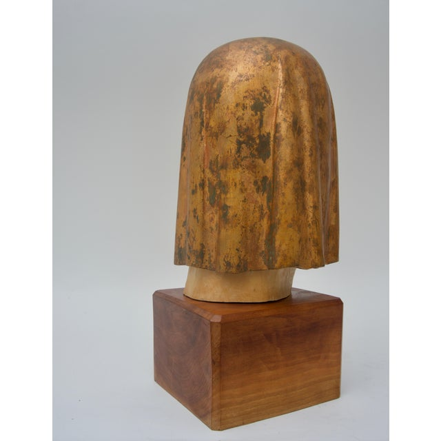 "Modern Giltwood Sculpture Titled ""Shade Mask"" by Mark Jordan 1980 For Sale - Image 3 of 11"