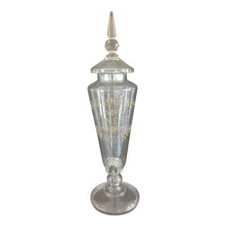 Antique English Crystal Rum Dispenser For Sale