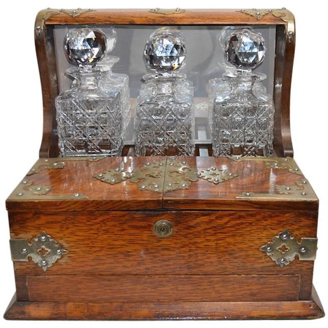 Mid 19th Century English Tantalus by Branah London - 4 Pieces For Sale - Image 12 of 12