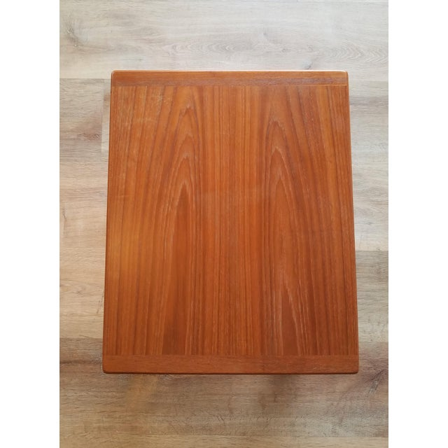 Wood Vejle Stole & Møbelfabrik Teak Coffee Table With Nesting Side Tables - 3 Pieces For Sale - Image 7 of 13