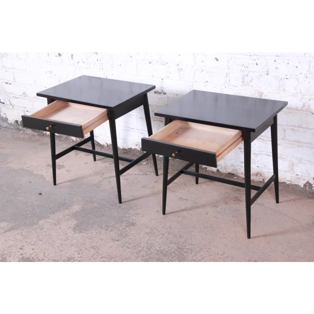 Metal Paul McCobb Planner Group Nightstands or End Tables - a Pair For Sale - Image 7 of 12