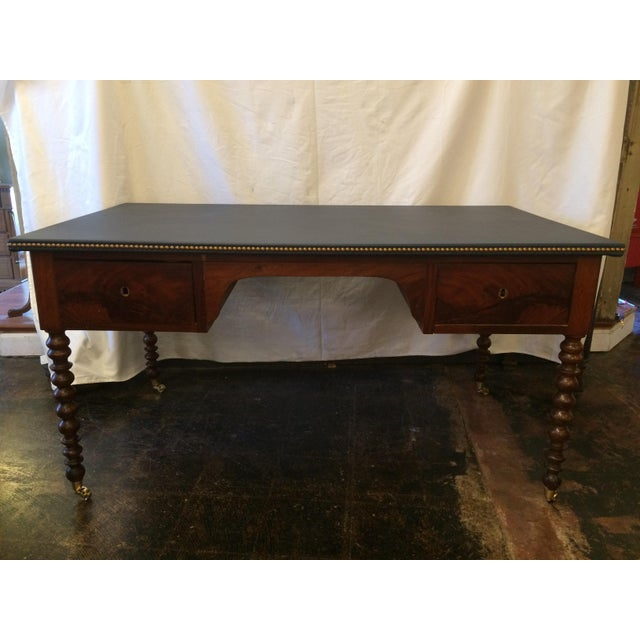 Louis Philippe Leather Top Writing Desk For Sale - Image 9 of 9