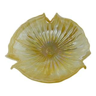 1970's Lavorazione Arte Murano Glass Shell Shape Centerpiece Bowl For Sale