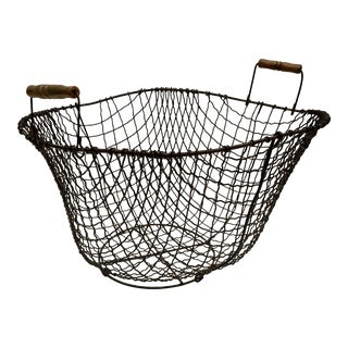 Hand Crafted Heart Shaped Wire Basket For Sale