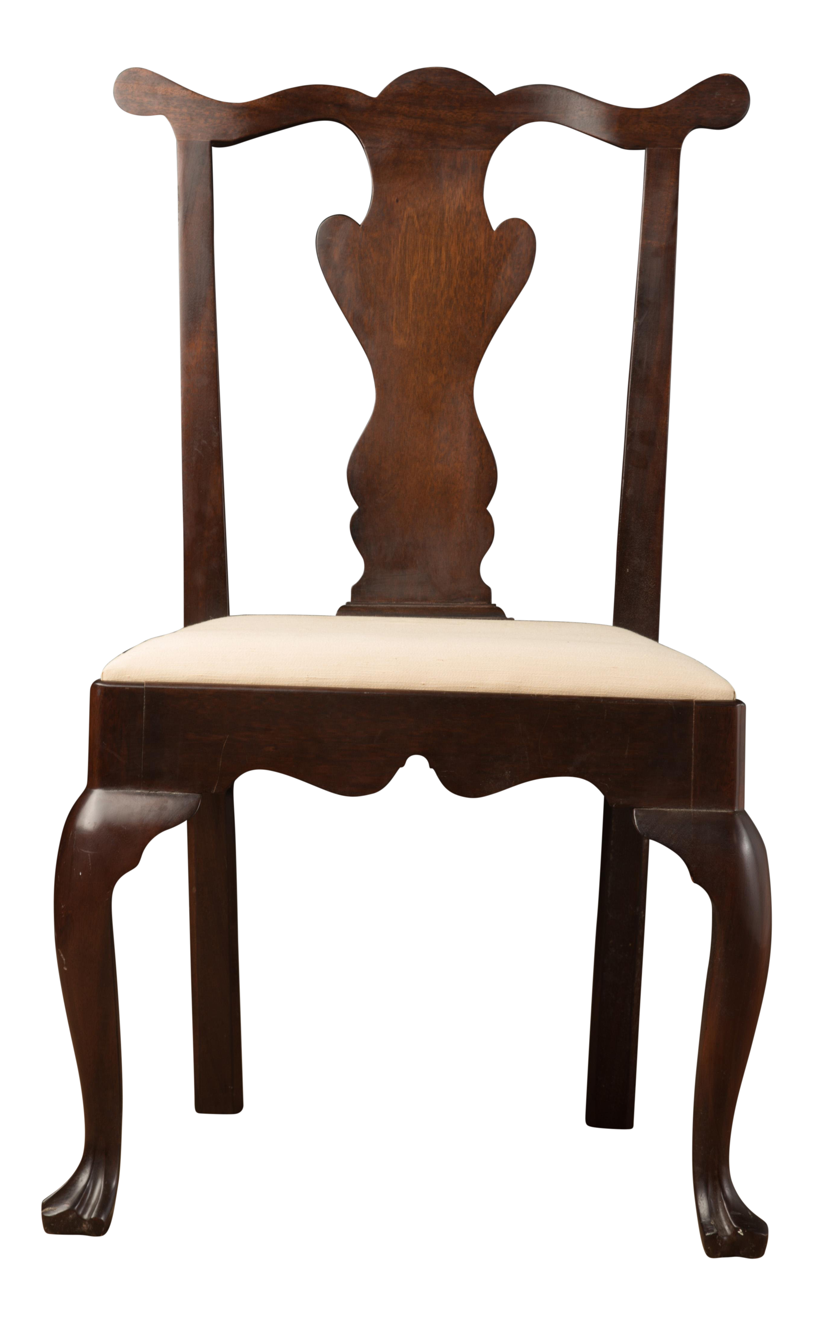 1990s Vintage Madison Square Furniture Chippendale Style Mahogany Side  Chair For Sale