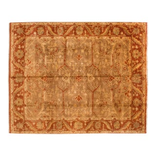 "New Gold Wash Indian Oushak Design Carpet - 8'10"" X 11'4"" For Sale"