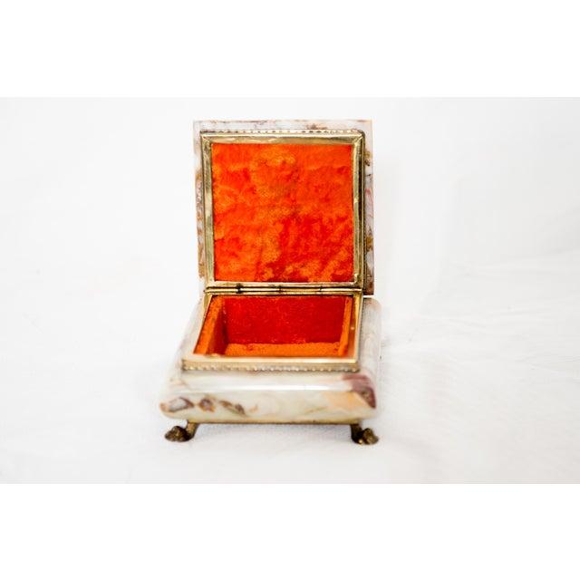 Italian Marble Onyx Trinket Box For Sale - Image 5 of 6