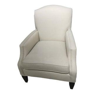 Robert Allen Wool Herringbone Lounge Chair For Sale