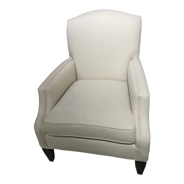 Robert Allen Wool Herringbone Lounge Chair For Sale