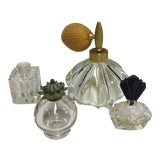 Image of 1920s Art Deco Atomizer Perfume Bottles - Set of 4 For Sale