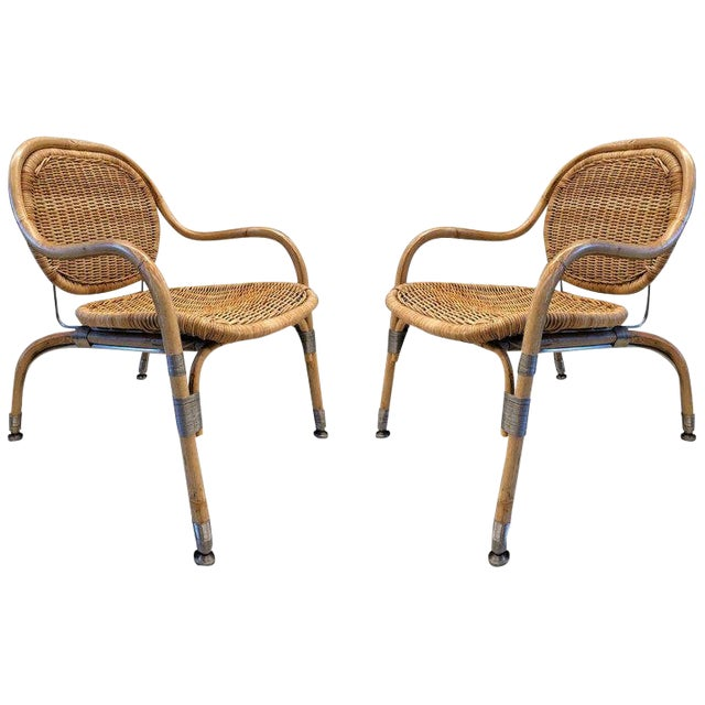 Pair Mats Theselius Cane Chairs For Sale