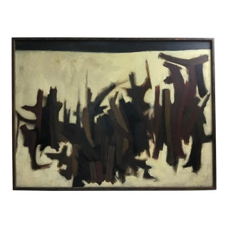 1958 Abstract Painting by Betty Sieler For Sale