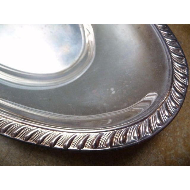 Antique Silver Oval Tray - Image 2 of 4