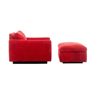 Milo Baughman Lounge Chair and Ottoman For Sale