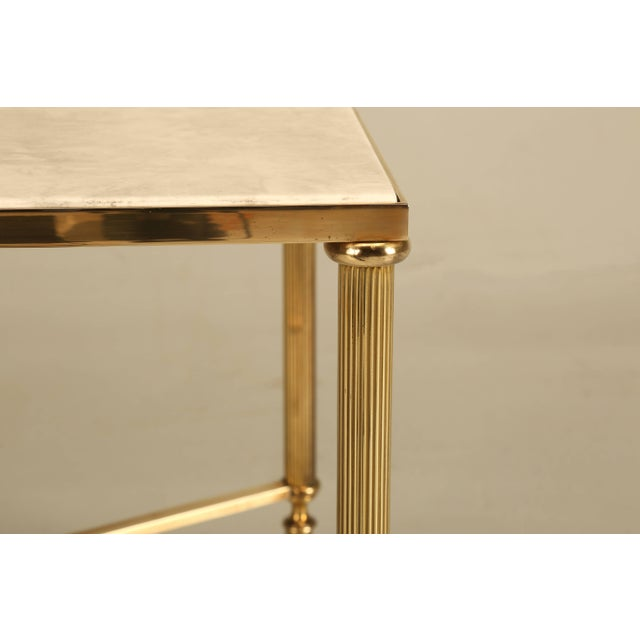 Metal French Mid-Century Modern Coffee or Cocktail Table in Polished Solid Brass For Sale - Image 7 of 9