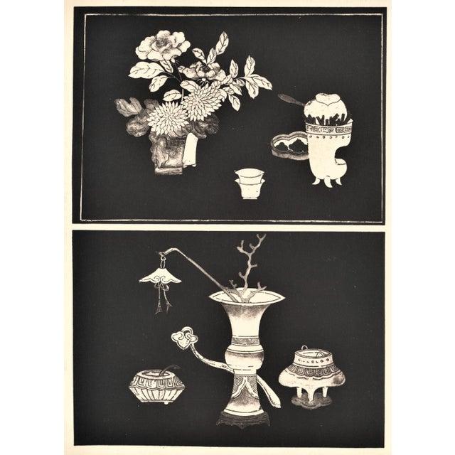 Art Deco Art Deco Asian Botanical Design Print For Sale - Image 3 of 5