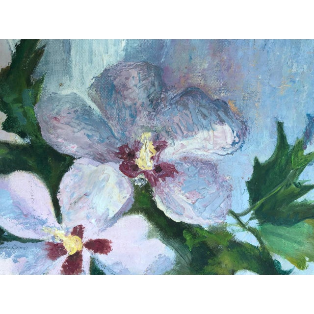 1970s 1970s Vintage Floral in Bloom Still Life Painting For Sale - Image 5 of 12