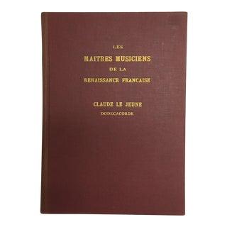 """1905 """"Les Maitres Musiciens De La Renaissance"""" Book"""