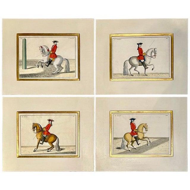 Four Engravings of Horse Riders Le Soldat, Le Grand, Le Diligent, L' Enjoue For Sale - Image 12 of 12