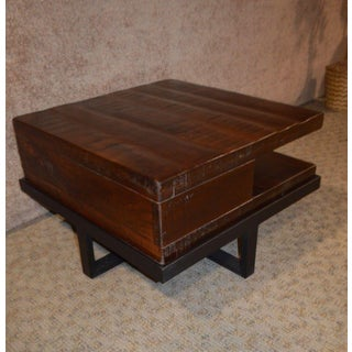 Transitional Style Wood & Metal Coffee Table Preview