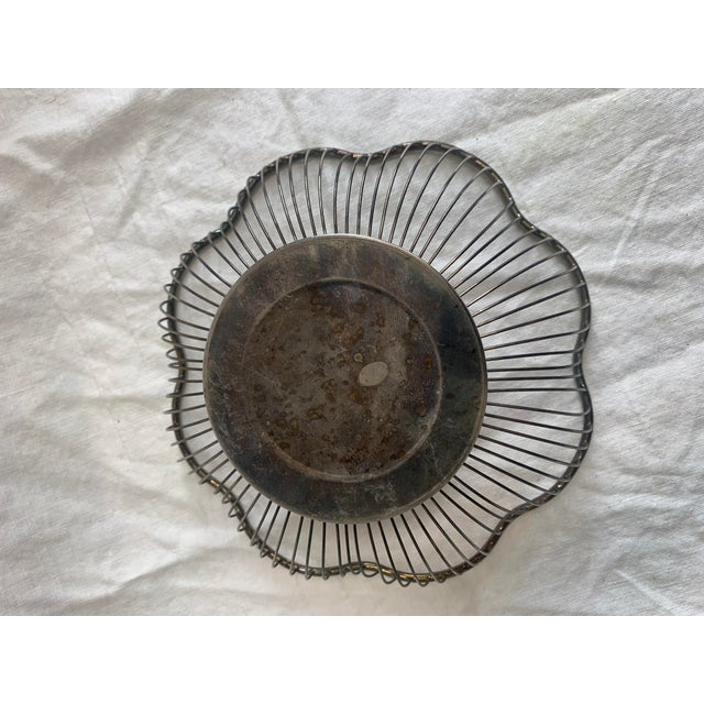 1960s Silver Fruit Bowl For Sale - Image 4 of 5