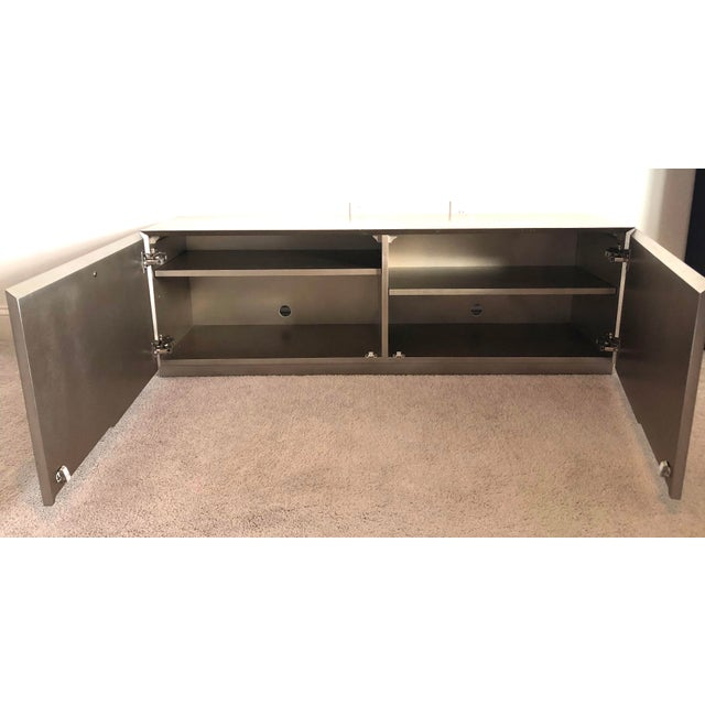 """Caracole Modern Caracole """"The Low Down"""" Entertainment Unit For Sale - Image 4 of 8"""
