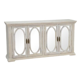 Washed Sideboard With Mirrored Doors For Sale