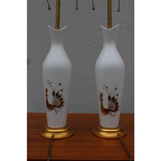 Mid-Century Modern Bjorn Wiinblad for Rosenthal Ceramic Table Lamps For Sale - Image 3 of 11
