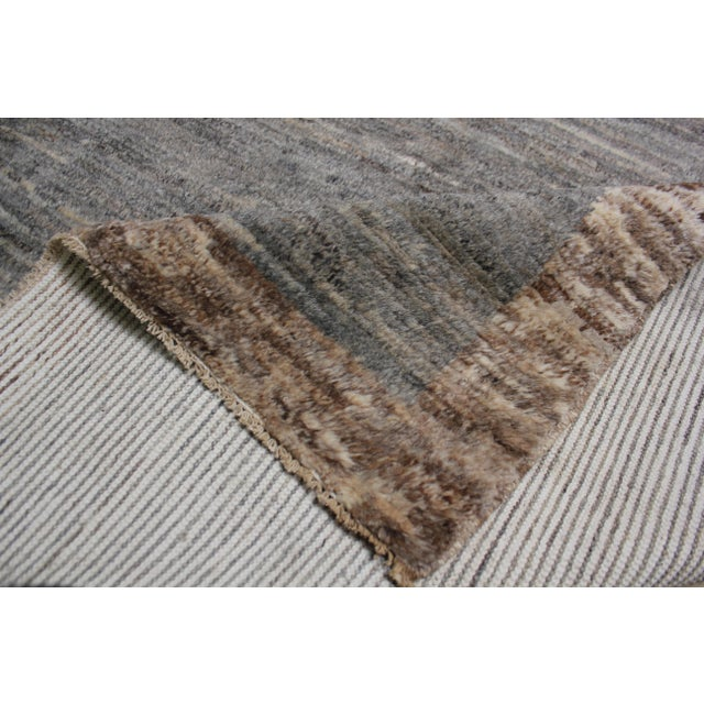 Gray Aara Rugs Inc. Moroccan Inspired Hand-Knotted Rug - 5′10″ × 8′6″ For Sale - Image 8 of 13