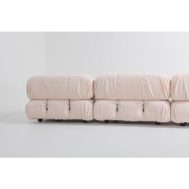 Textile Mario Bellini Nude Rose Velvet 'Camaleonda' Sectional Sofa - 1970s For Sale - Image 7 of 12
