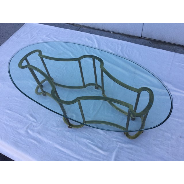 1960's Modern Mastercraft Brass Coffee Table - Image 2 of 11