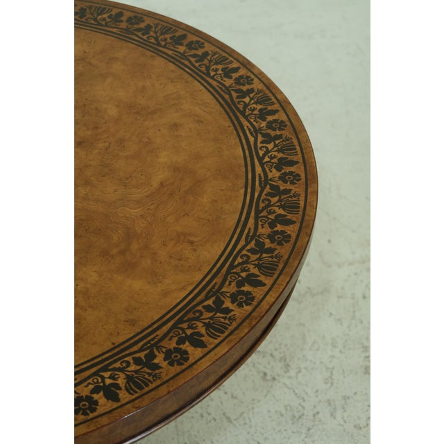 Brown Baker Stately Homes NeoClassical Round Center Table For Sale - Image 8 of 11