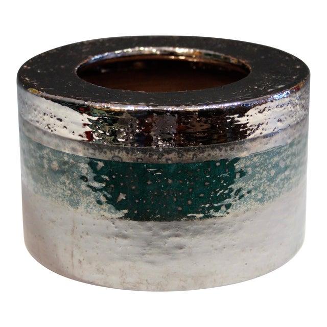 Vintage Bitossi Londi Raymor Metallic Vase For Sale