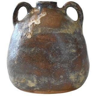 1960s Mid-Century Modern Signed Art Pottery Vase For Sale