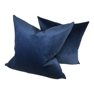 Ralph Lauren Velvet Pillows - A Pair For Sale