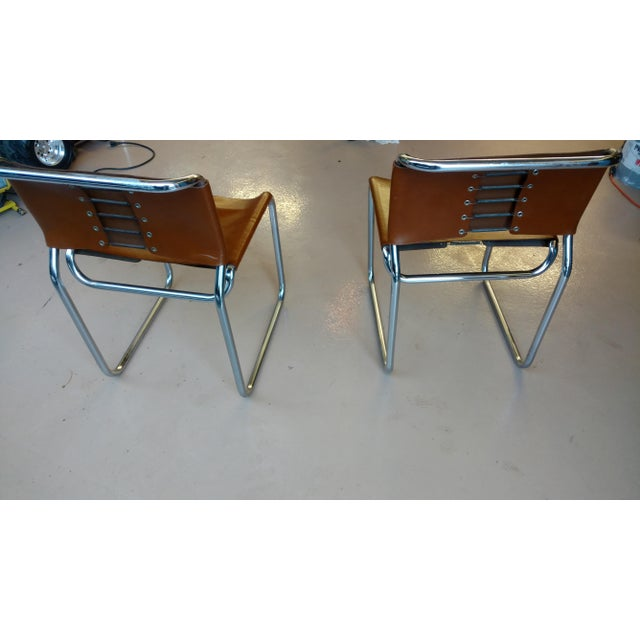 Nicos Zagraphos Chairs - A Pair - Image 3 of 11