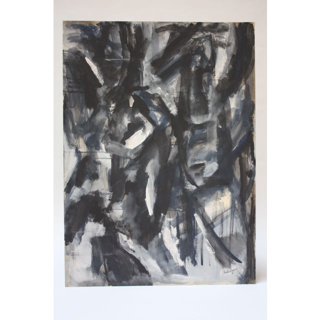 Abstract 'Aspen' Gouache on Board by Elizabeth Nachman Erlanger For Sale - Image 13 of 13