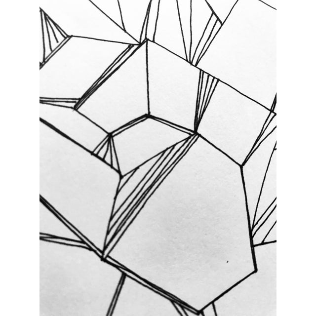 """Contemporary """"Formations"""" Original Pen & Ink Drawing For Sale - Image 3 of 6"""