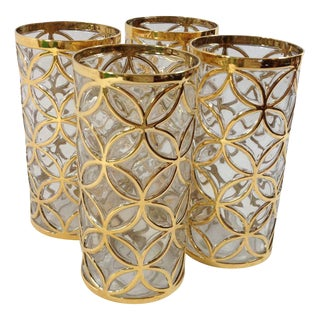 Imperial Glass 24KT Gold Glassware - Set of 4 For Sale