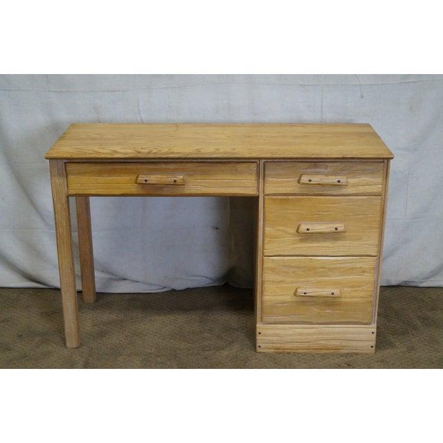 Brandt Ranch Oak Rustic Southwest Style Writing Desk (A) - Image 2 of 10