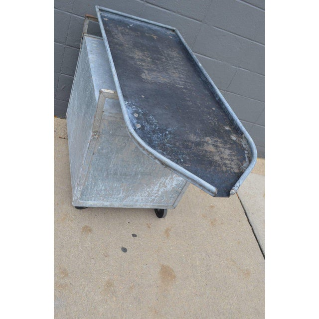 Bar on Wheels / Potting Table / Plant Stand from Galvanized Vet Exam Table - Image 9 of 10