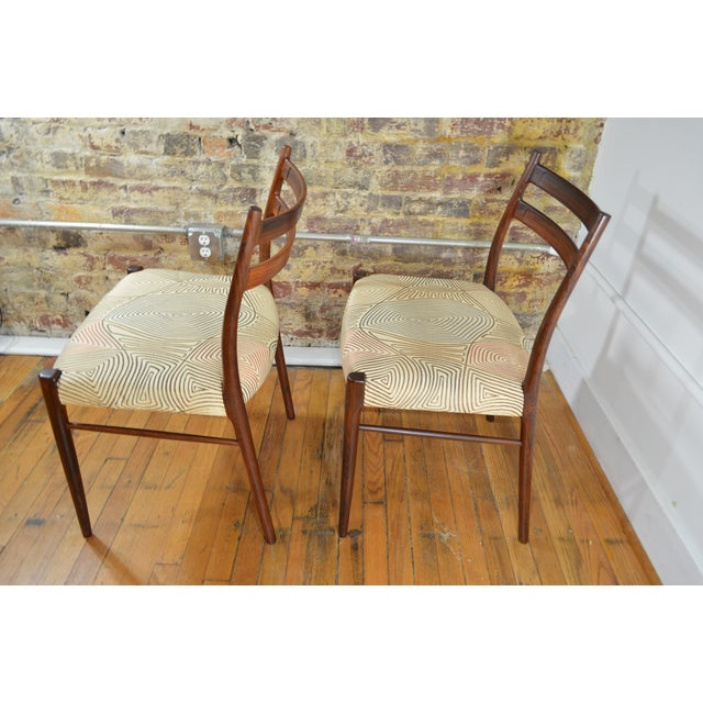 Arne Wahl Iversen Arne Wahl Iversen Rosewood Dining Chairs - a Pair For Sale - Image 4 of 6