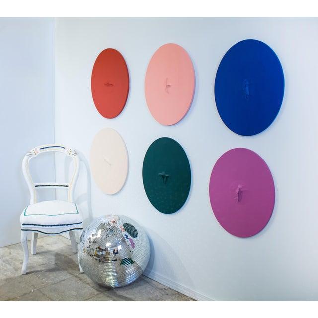 Abstract Pop Art Logan Ledford Green Acrylic Wall Art For Sale - Image 3 of 4