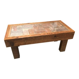 Brick Tile Coffee Table For Sale